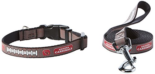- GameWear NFL Arizona Cardinals Reflective Toy Football Collar & Small Leash Gift Pack, One Size, Brown