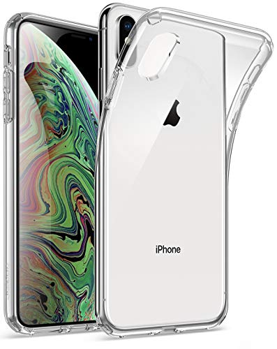 iPhone Xs Max Clear Case, Poetic Lumos Flexible Soft Transparent Ultra-Thin Impact Resistant TPU Case for Apple iPhone Xs Max 6.5 OLED Display - Crystal Clear