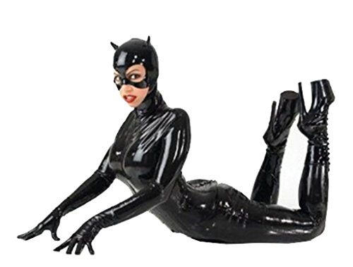 [Women's Black Catsuit Bodysuit Jumpsuit Costumes Club Wear] (Catwoman Bodysuit)