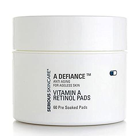 Serious Skin Care A Defiance Vitamin A Retinol Pads 60 Count Pre-Soaked (Pre Soaked Pad)