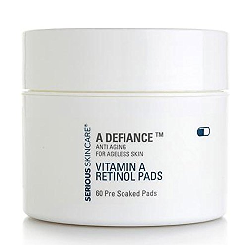 Serious Skin Care A Defiance Vitamin A Retinol Pads 60 Count Pre-Soaked Pads
