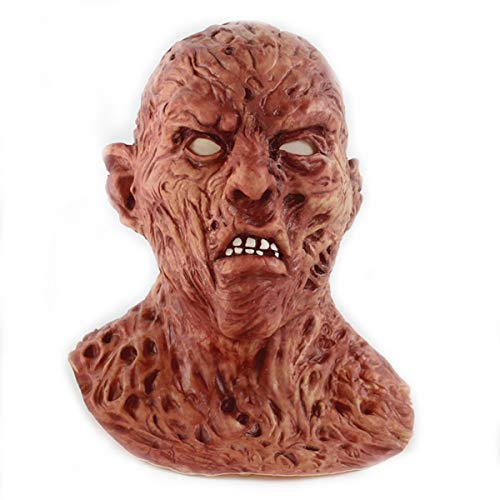 A Nightmare On Elm Street Freddy Krueger Costume Deluxe Overhead Scary Horror Mask for Halloween Party Cosplay ()