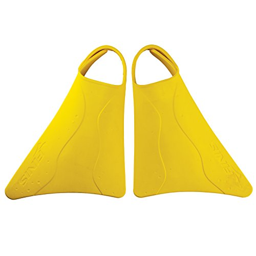 (FINIS Kids Fishtail 2 Fins, Yellow, US Junior 6-11)