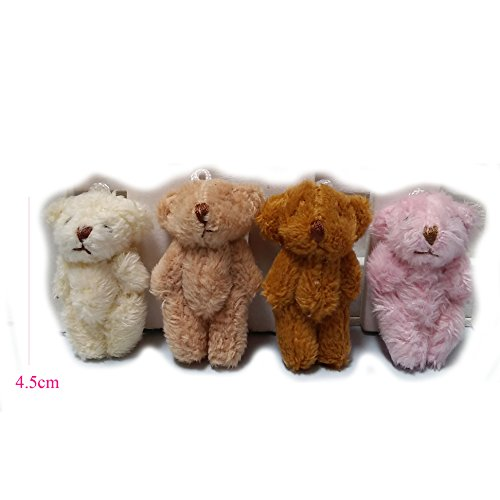 ZhinderLand Wholesale 4.5cm Plush Mini Teddy Bear Package Of 20 Assorted Bears (20 pcs) for $<!--$14.90-->