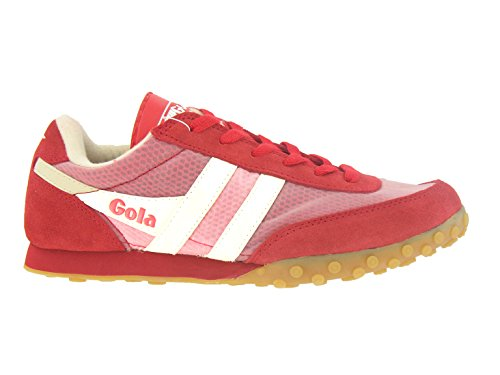 Gola Womens Racerunner Low Top Fashion Sneaker Rosso / Ecru