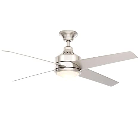 Home Decorators Collection Mercer 52 In. Brushed Nickel Ceiling Fan