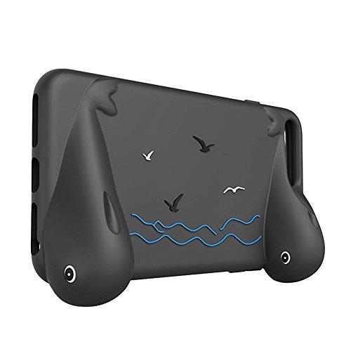Owoda RC Drone controllore Supporto per grip i phone Silicone morbido Caso con Impugnatura per DJI Spark Flight per iPhone 6 Plus / 6s plus / 7 plus (Nero)