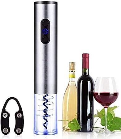 TETHYSUN Abrebotellas de vino Sacacorchos eléctrico eléctrico automático abridor de botellas de vino Kit inalámbrico Sacacorchos abridor de botellas cortador de hoja para cerveza vino tinto