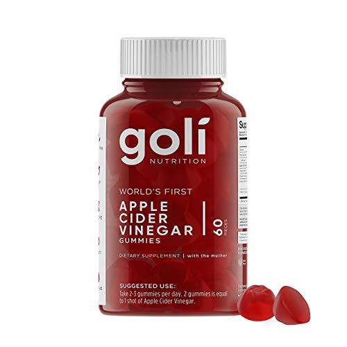 Goli Nutrition Inc. Gummivitamine von Apfelessig (60 Einheiten, bio, vegan, glutenfrei, gentechnikfrei, mit Vitamin B9, B12, Rüben, Granatapfel) Packung mit 1