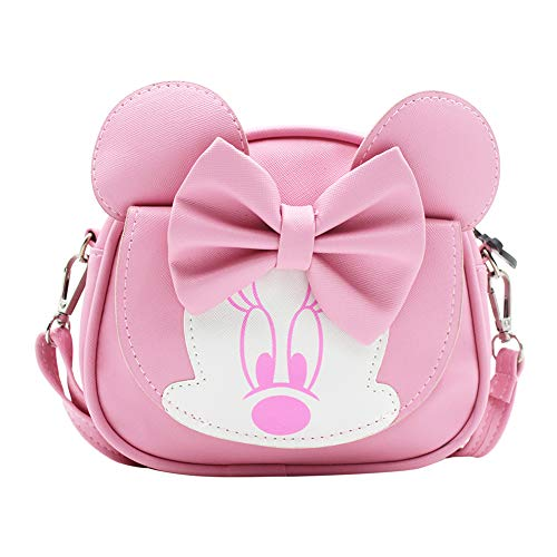 RARITYUS Kids Cute Bowknot Crossbody Purse Shoulder Bag with Mouse Ears Fashion Satchel for Boys Girls