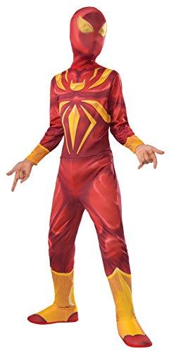UHC Boy's Iron Spider Jumpsuit Superhero Fancy Dress Child Halloween Costume, Child S (4-6)