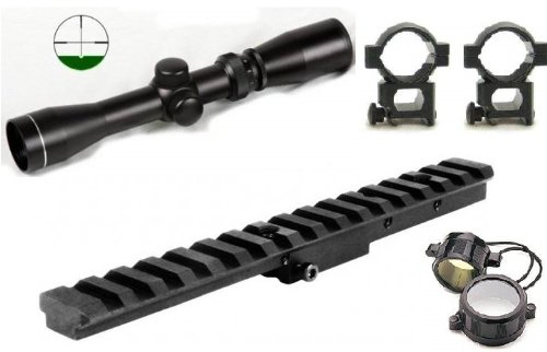 Ultimate Arms Gear Tactical Mosin Nagant Rifle Rail Scope Sight Mount + 2-7x32 Long Eye Relief Scout Scope With Level & Duplex Reticle Kit Scope Rings + Covers & Lens Cleaning Kit by Ultimate Arms Gear