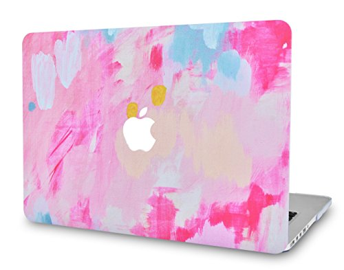 (LuvCase Rubberized Plastic Hard Shell Case Cover Compatible MacBook Air 13 Inch A1466 & A1369 (Pink Mist 2))