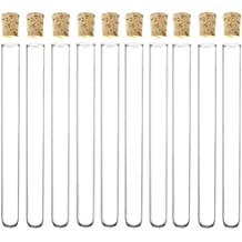 Glass Test Tube with Cork Stoppers, Size, Quantity, and Accessory Variations, 3.3 Borosilicate, Karter Scientific