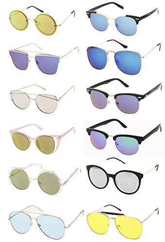WOMEN'S FASHION SUNGLASSES- SPRING BREAK & SUMMER (12 Pack)]()