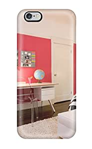 Iphone 6 Plus Case Cover Girl8217s Contemporary Bedroom With Rose Pink Wall 038 White Shag Rug Case - Eco-friendly Packaging