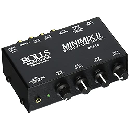 mixer with xlr output and rca input