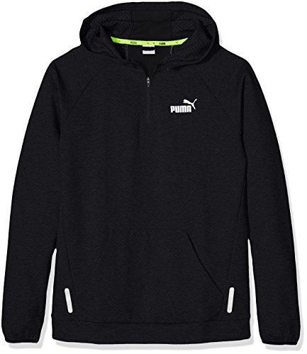 Enfants Halfzip Style Hoodie Pull Sports Cotton Puma Black tdq8wzz