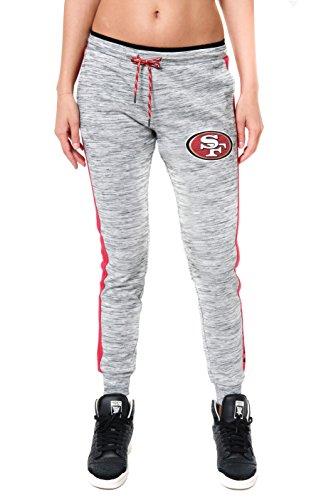 NFL Women's San Francisco 49ers Jogger Pants Active Basic Fleece Sweatpants, X-Large, Gray - San Francisco 49ers Womens Apparel