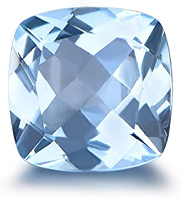 Lot of Stunning 25 Pieces AAA Quality Aqua Chalcedony 5x5 mm Cushion Rose Cut Loose Gemstone Calibrated
