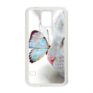 CAT YT8056362 Phone Back Case Customized Art Print Design Hard Shell Protection SamSung Galaxy S5 G9006V