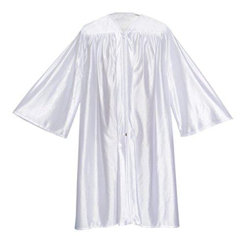 Apparel Group Big Boys' White Preschool Cap, Gown & Tassel 27