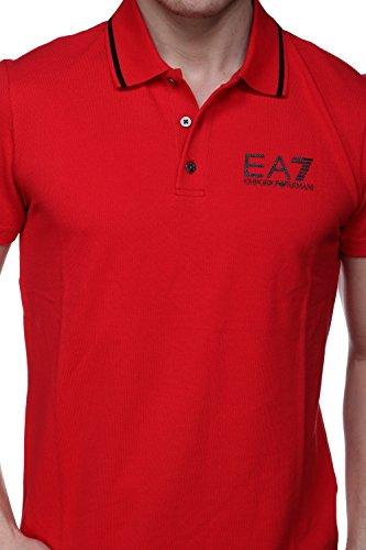Emporio Armani Herren Poloshirt rot rot