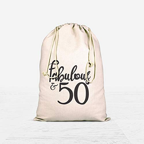 Fabulous Fifty 50th Birthday Party Ideas Favor Bags 50th Birthday Goody Bag 50th Anniversary]()