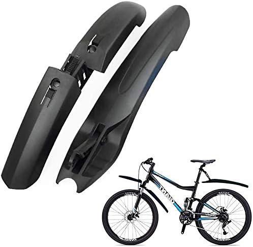 TAGVO Parafango Bici 2 Parti-Copertura Completa Universale Addensare allargare parafanghi per Biciclette Set parafango Anteriore e Posteriore per Mountain Bike Parafango Regolabile per parafango