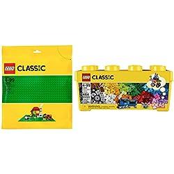 LEGO Classic Medium Creative Brick Box 10696 + Classic Green Baseplate 10700