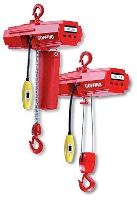 Coffing EMW500B Light Duty Electric Wire Rope Hoist 10` Lift, Capacity: 500 Pounds, Voltage: 115