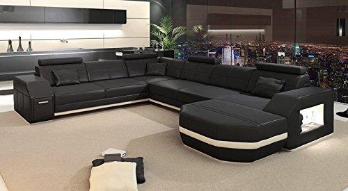 Couch u form xxl  Wohnlandschaft XXL Ecksofa Leder Sofa Couch Ledersofa Ledercouch U ...