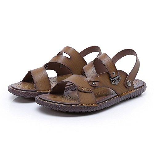 Sandali Toe Open Da Pelle Sandali Hope Spiaggia Uomo Brown Per Infradito Ragazzi Per In Per Estivi Sandali 7SwwxEq8