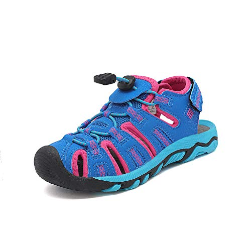 DREAM PAIRS Toddler 160912-K Navy Fuchsia Mint Outdoor Summer Sandals Size 9 M US - Apparel Kids Little Fuchsia