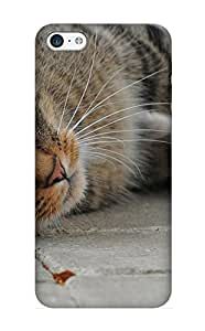 Iphone 5c Hxqony-1348-zaurwgu Animal Cat Tpu Silicone Gel Case Cover For Lovers