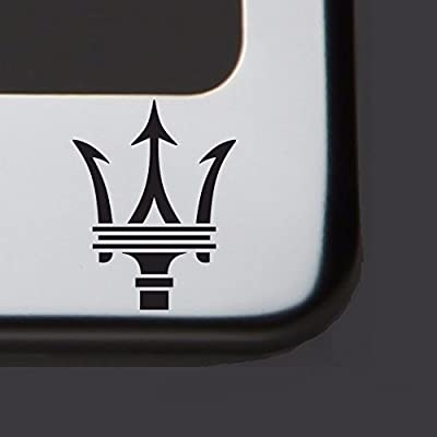 One Laser Engraved Black Fit Maserati Mirror Stainless Steel License Plate Frame Holder Front Or Rear Bracket Steel Screw Cap: Automotive