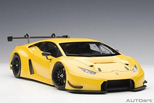 Lamborghini Huracan GT3 Yellow with Pearl Effect / Giallo Into 1/18 Model Car by Autoart 81528