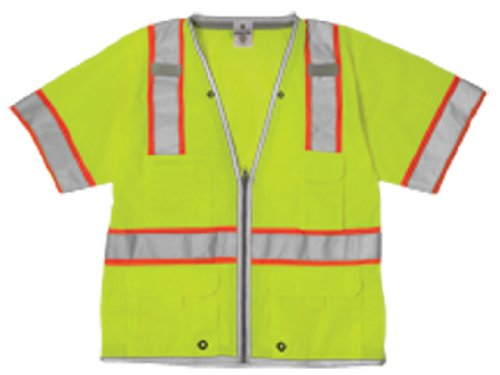 ML Kishigo 1550 Ultra-Cool Polyester Mesh Brilliant Series Heavy Duty Vest, 2X-Large, Lime