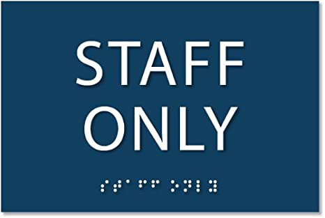 Amazon.com: Staff Only señal – ada cartel. 6