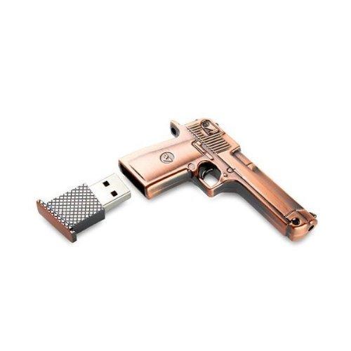 32GB Fold USB 2.0 Flash Memory Stick Pen Drive Thumb Disk Golden - 1