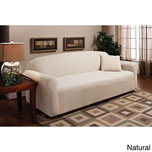 Stretch Microfleece Sofa Slipcover Color: Burgundy
