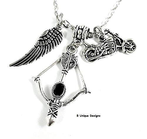 Crossbow Angel Wings Car Charms Bag Clip Personalized Initial Add Name and-or Birthstone Crystal Hunting Zombies Survival Gear Weapon Jewelry]()