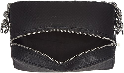 Kendall + Kylie Lucy Snake - Borse a tracolla Donna, Schwarz (Black), 8x15,8x20 cm (B x H T)