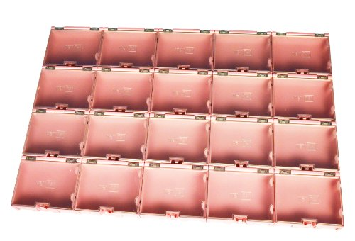 Wen-Tai SMD SMT Component Small-Part Hobby Storage Snap Box and Organizer (20 boxes)