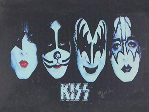 QDTrade Metal Sign 16 x 12inch - Wall Posters KISS Heavy Thrash Metal Rock Roll Music Band Sign Plate