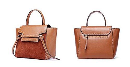 Matts Leder Damen Handtasche Wing Paket Soft-Face Knödel Schulter Messenger decken Nähen Tasche Braun