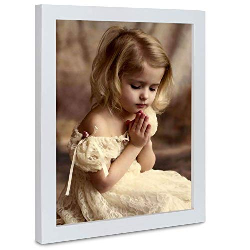 6 Packs 8x10 Picture White Wood Frames with Picture Hanging Kits for Wall Picture and Table Desk Top by ASelected