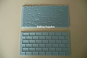 Wood Grain Amp Brick Effect Impression Mat Embosser Fondant