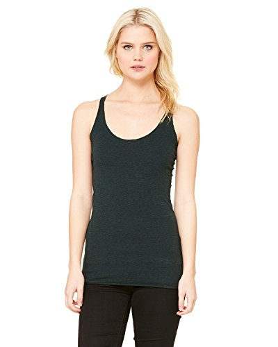 Bella+Canvas Women's Tri-Blend Racerback Tank Top, Medium, Emerald Triblend