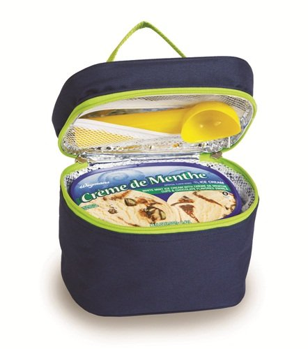 Picnic Plus Insulated Ice Cream Carrier Holds 1 1/2 Quarts Or 2 Pints by Picnic Plus